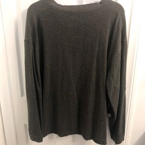 Sweaters - Plus size: Gray overhead long sleeve sweater.